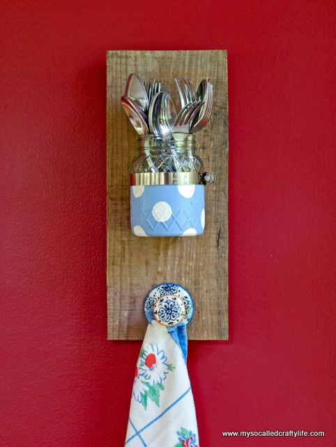 DIY Mason Jar Reclaimed Wood Wall Hanging | My So Called Crafty Life