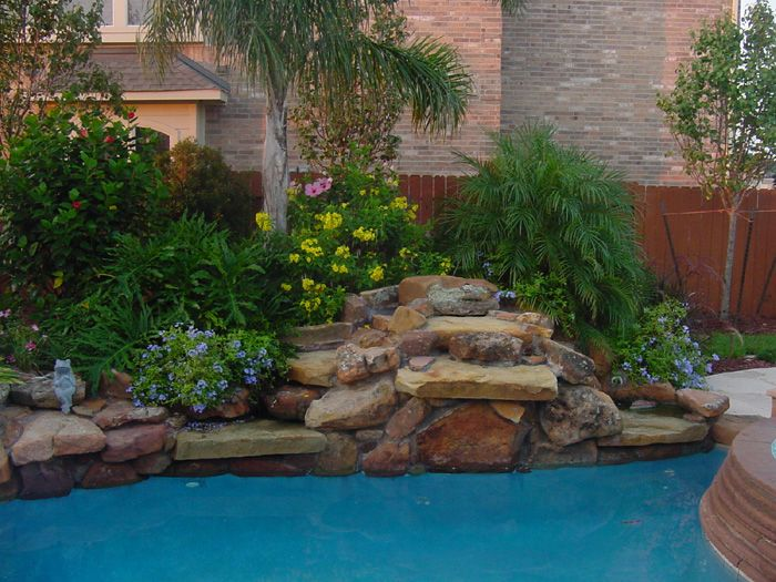 162 best images about backyard landscape ideas on for Pool design houston tx