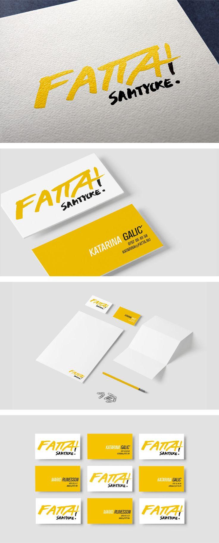 Branding for Fatta Samtycke by Sandra Liljegren