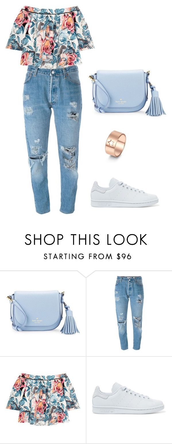 """Untitled #85"" by anasara200040 ❤ liked on Polyvore featuring Kate Spade, Levi's, Elizabeth and James and adidas Originals"