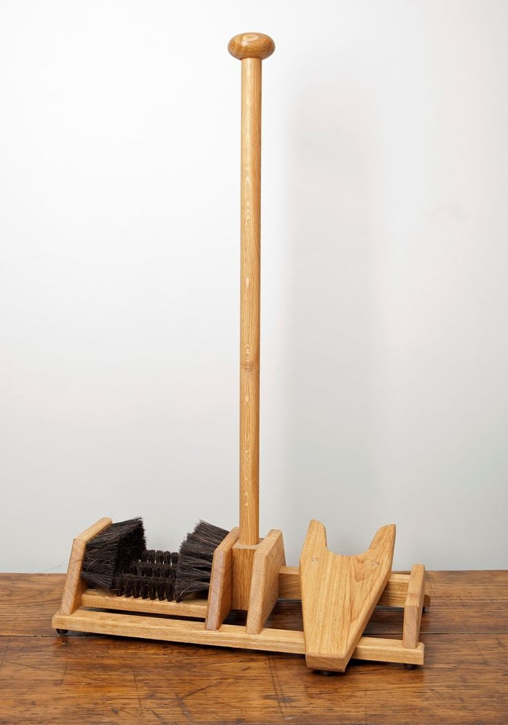 Oak Foot Scraper  and  Boot Jack, by Lissom  and  Muster