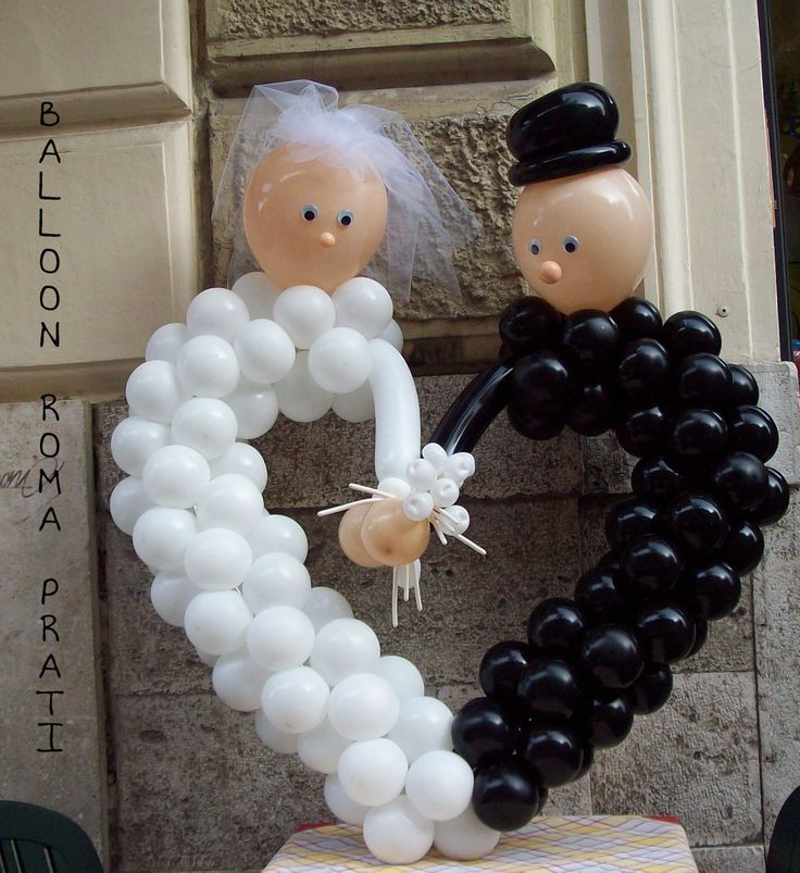 Wedding Heart Newlyweds Balloons... This is so cute!...
