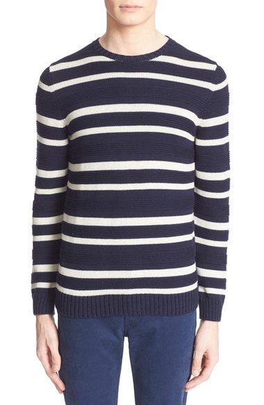 A.P.C. Egyptian Cotton Stripe Pullover available at #Nordstrom