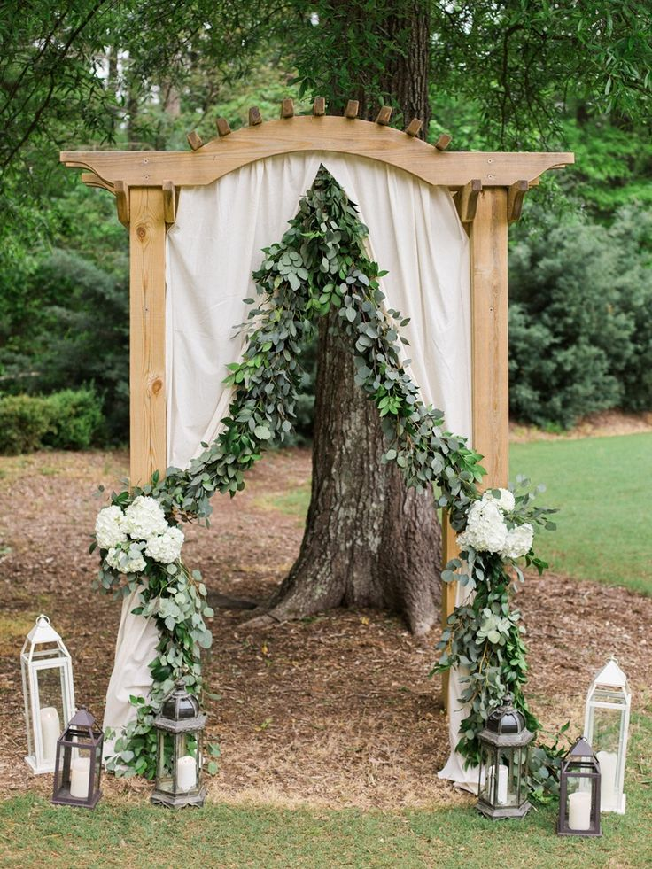 Garden Wedding Ceremony Aisle Arch