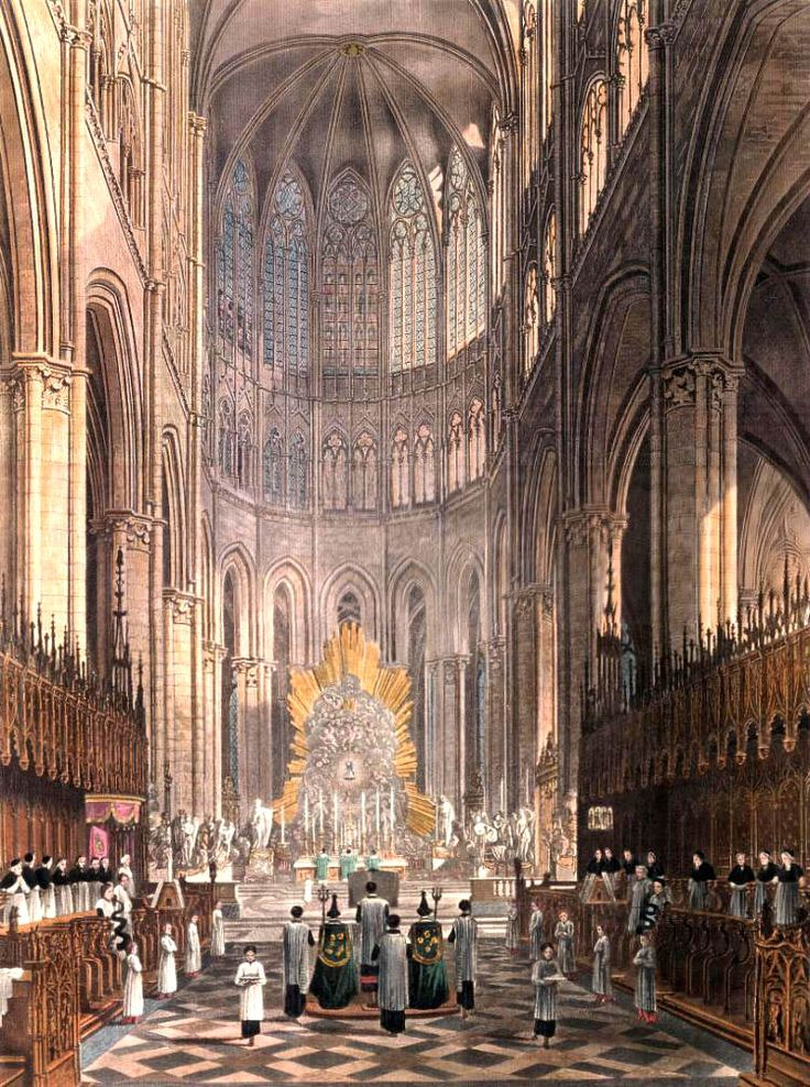 Amiens Cathedral Interior (High Gothic) Highest Cathedral 144 Ft. Gothic  ArchitectureGothic ArtChoirOur ...