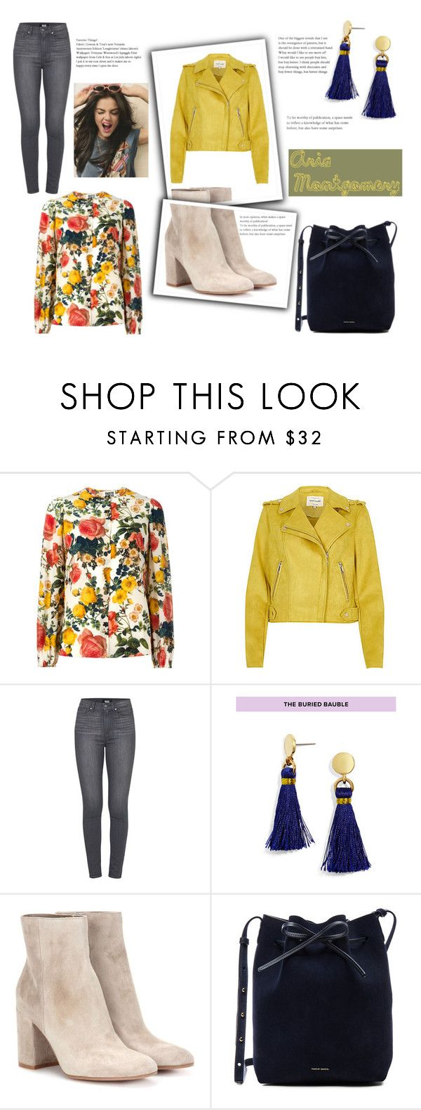 """Aria Montgomery"" by spencer-hastings-5 ❤ liked on Polyvore featuring FAUSTO PUGLISI, Paige Denim, BaubleBar, Gianvito Rossi and Mansur Gavriel"