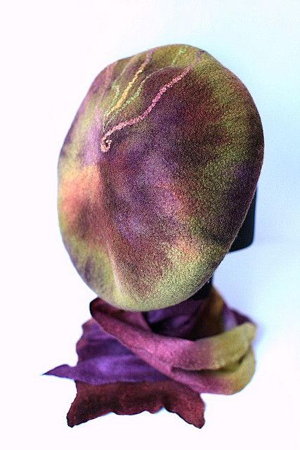 Felted Beret Scarf Set by FeltedPleasure, via Flickr