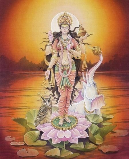 """""""Goddess Lakshmi""""- Goddess of Beauty and Good fortune"""
