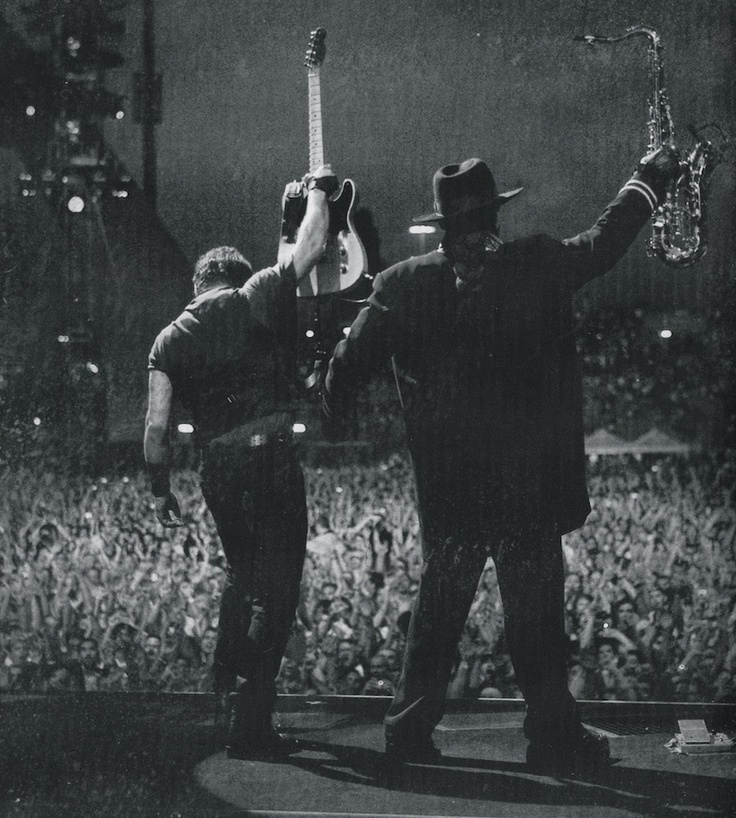 Bruce Springsteen and Clarence---I Love this picture!!   :)