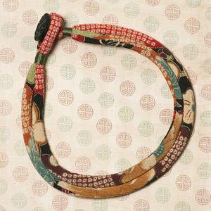 Kimono Cord Silk Wrapping - beautiful fabric necklace tutorial