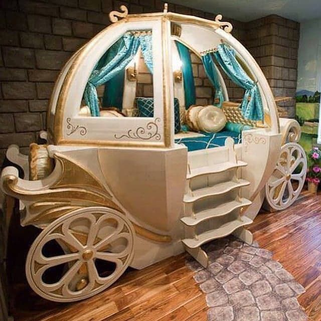 Pin for Later: These 19 Crazy Kids' Rooms Will Make You Want to Redecorate Immediately Before Midnight The perfect reading nook for any princess-lover's room.
