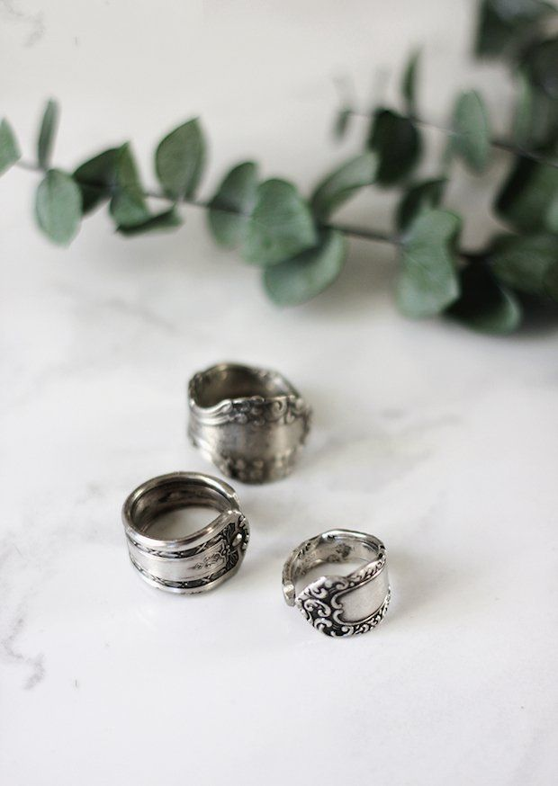 If you've ever admired a spoon ring and wondered about making them yourself, you're in luck! Caitlin from The Merrythought will walk you through the whole process--from pretty spoon to stylish piece of DIY jewelry--in her easy-to-follow spoon ring tutorial.