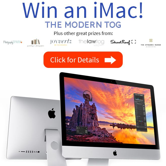 Jamie at the Marketog is sponsoring a super amazing giveaway including an iMac and other cool stuff for photographers. Thanks Jamie!!