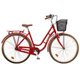 Damecykel 7 gear - Mustang Dagmar - Rød Populær hverdagscykel med 25 års stelgaranti