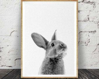 Imprimir conejo bosque vivero arte decoración de la por LILAxLOLA