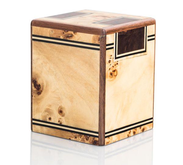 Soft Blond Maple Burl Keepsake Cremation Urn
