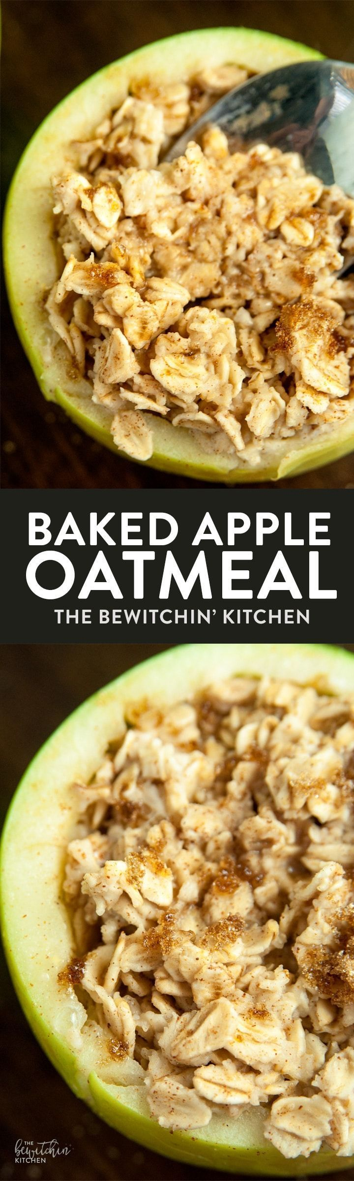 Baked Apple Oatmeal Bowls - an easy breakfast recipe that's ready in under a minute, healthy, and has no clean up! Plus 7 apple hacks.