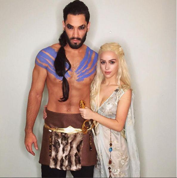 Carli's and Brett's Khal & Daenerys #Halloween #Gameofthrones