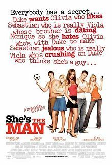 #11 - She's the Man. My go-to sleepover movie. I'm not one for romcoms, but I'll let this one slide. Amanda Bynes in Sydney White and the Seven Dorks is also in the running.