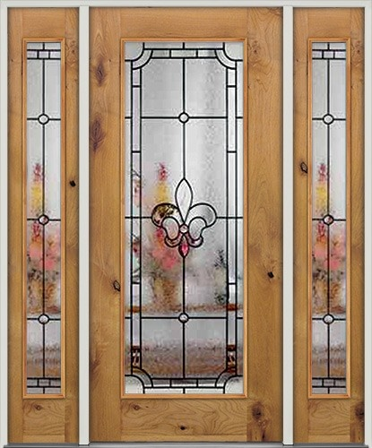 Beautiful Fleur De Lis Entry Doors