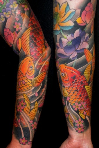 Lotus flowers koi and lotus on pinterest for Tattoo parlors in tacoma