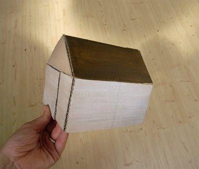 Studio Violet: How to make a cardboard house