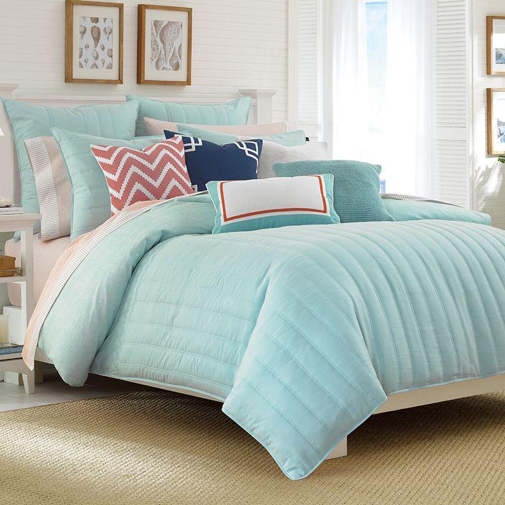 Nautica Mainsail Aqua Comforter Set. #BeddingStyle