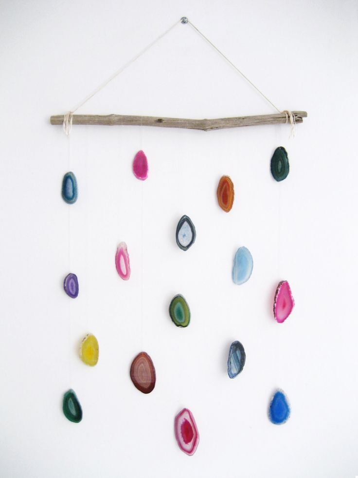 DIY – Agate Slice Wall Hanging   Adorablest                                                                                                                                                                                 More