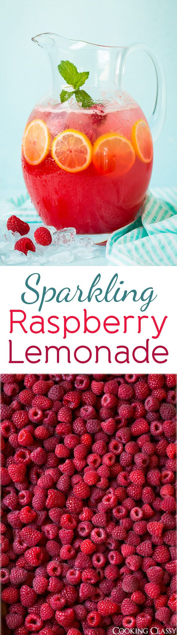 Sparkling Raspberry Lemonade - the ultimate refreshing summer drink! Perfectly bubbly and bright. Everyone loves this!