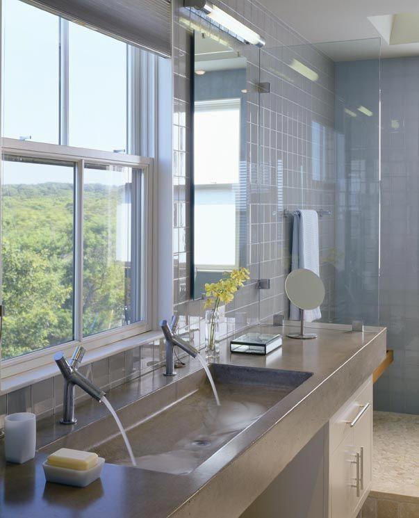 Big Bathroom Sink Double Size Cast Concrete Mast Bathroom