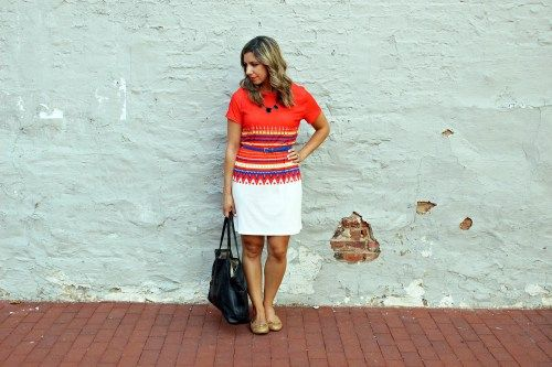 Red Stripe: A Colorful Summer Shift Dress from SheIn & Some Work Options via GlassofGlam.com a women's style and beauty blog