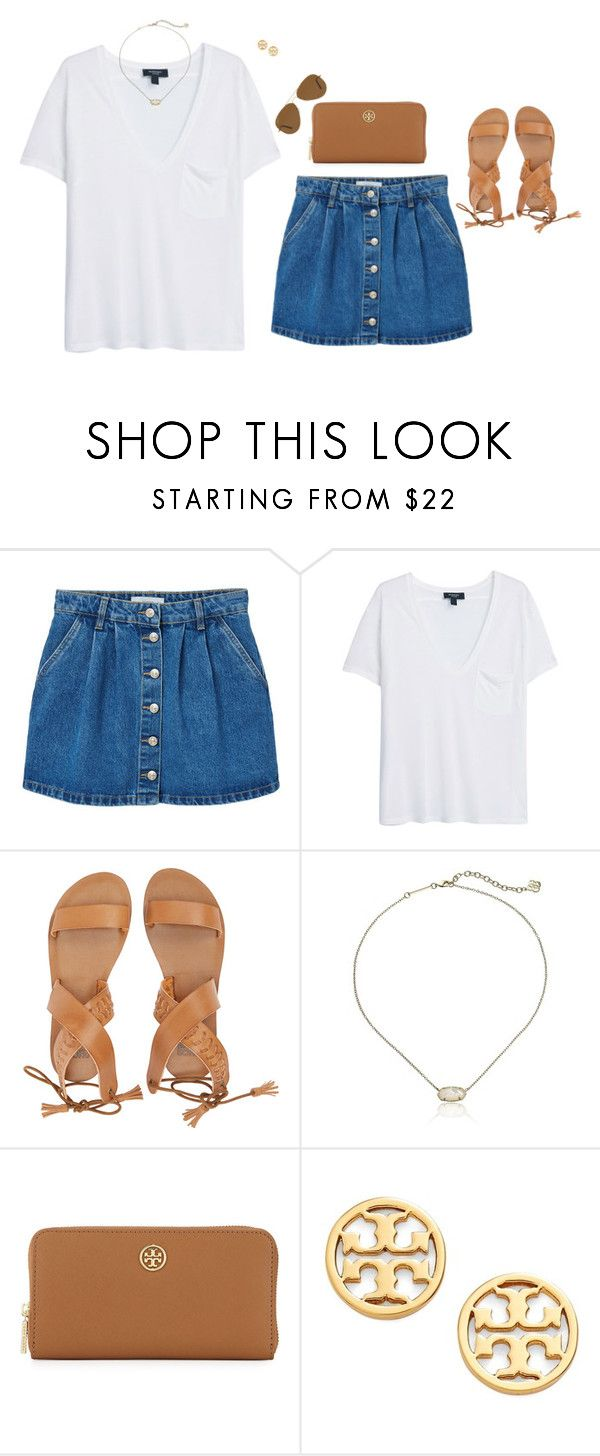 """""""Fav 2k16 trends in D!!!"""" by mary4claire ❤ liked on Polyvore featuring MANGO, Billabong, Kendra Scott, Tory Burch and Ray-Ban"""