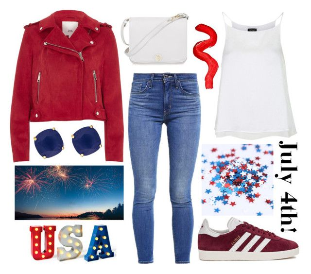 """""""July 4th!"""" by sunfayn on Polyvore featuring moda, Topshop, River Island, Levi's, Furla, Kate Spade e adidas Originals"""