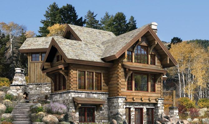 Luxury Home Designs Log Plans Natural Stone Fireplace House Plans 70199 Stone House Plans Log Home Plans Modern Style House Plans