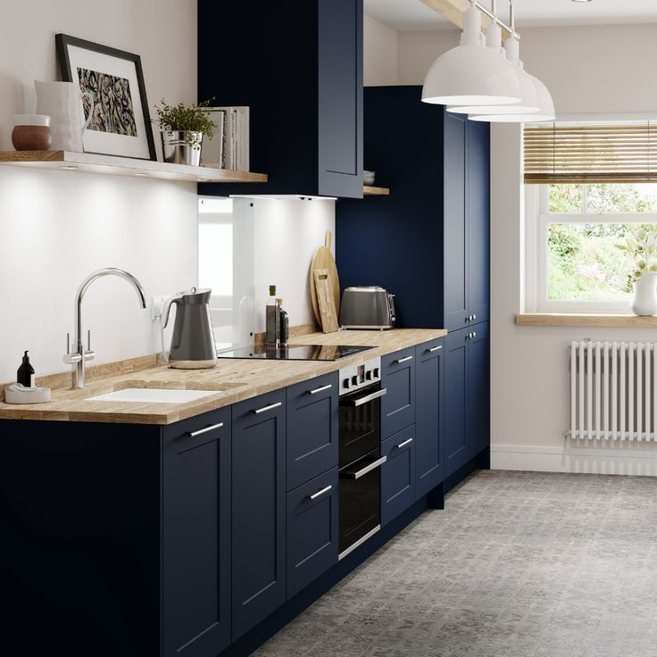 our new chelford navy kitchen has a simple framed design for an understated take on classic on kitchen decor navy id=65486