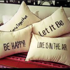 Almohadones decorativos para cama, sillón. Con frases