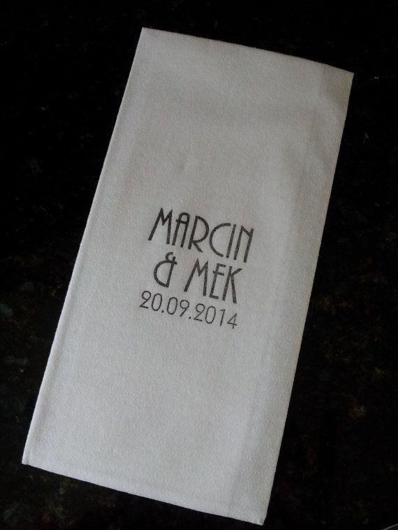 200 Wedding Napkins Serviettes Guest Towels Super Soft Linen Like Paper Hand Stamped Custom Designs