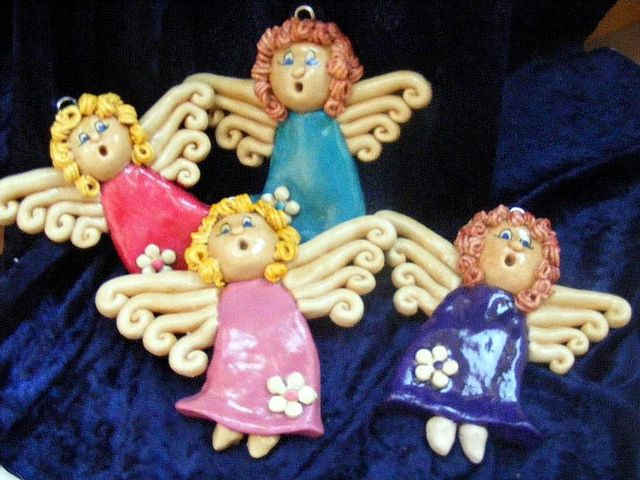salt dough angels by Christine Salt of the Earth, via Flickr