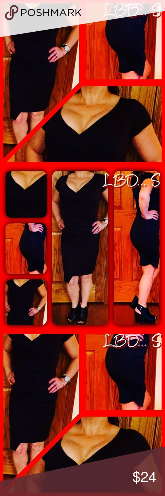 Simple LBD. Great, but I need 2 let go of some :( Beautiful Simple, Sexy LBD, need to make room for all My POSHING I literally can not fit one more huggable hanger in my closet ❣Don't want to become a hoarder. I'm 5'1 and you can see where it hits me in the photos, just above one knee. It's an A symmetrical cut at hemline. Don't forget ....CHELLE GIVES THE BEST FREE GIFTS! According to what I see you like❣🤗❣ HAPPY POSHING❣ its 5:00am I'm falling asleep 😴💤💤💤 Dresses Midi
