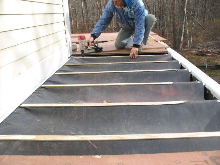 Site Built Deck Drainage System Deck Building A Deck Drainage