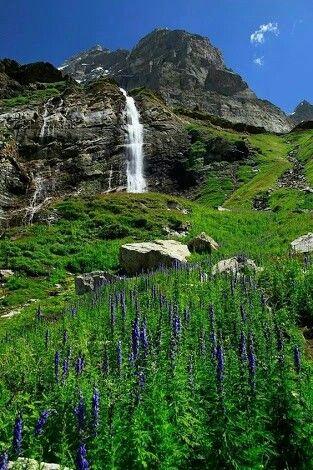 SHOUNTER VALLEY WATERFALLS, AZAD KASHMIR, PAKISTAN.