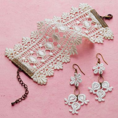Lace jewelry-- Love the bracelet!