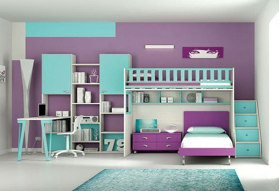 Made To Order All In One Bunk Bed With Cupboards, Shelving