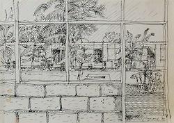 Wynand Smit Snr Artist / Architect: Pen on paper