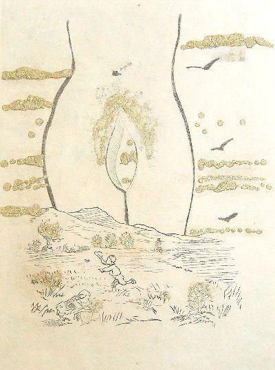 Salvador Dalì, Les Amours jaunes (1974) inspired by Tristan Corbière.