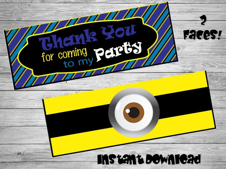 Minions bag toppers- DIY birthday bags - Minions Birthday Labels -  Minions Party-Bag toppers- Printable Minions label- Minions printables by Chumelito on Etsy