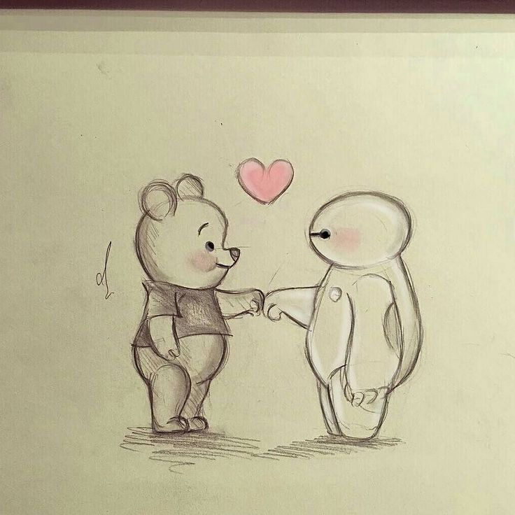 disney pencil drawings easy drawing sketches kawaii winnie pooh baymax sketch friends cartoon cool animal desenate portrete bff рисунки dibujos