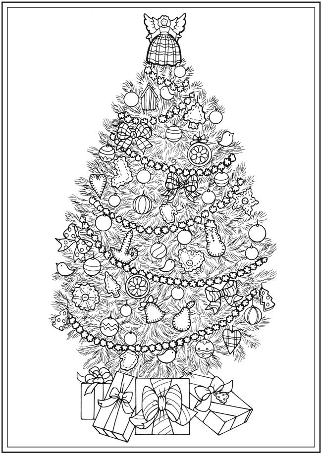 14 best Adult Coloring Pages - Christmas Trees images on Pinterest ...