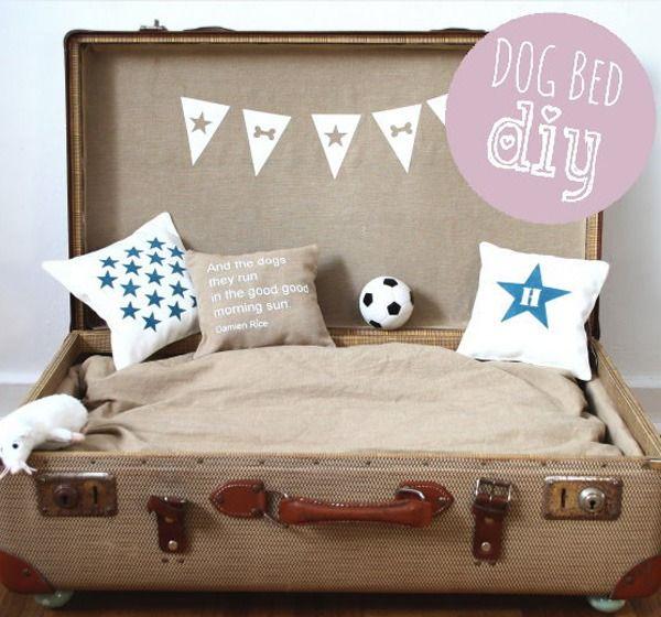 Trendy Möbel aus alten Koffern selber machen beige farbe hundebett