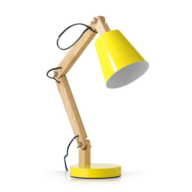 Tully Desk Lamp Yellow – Black Mango